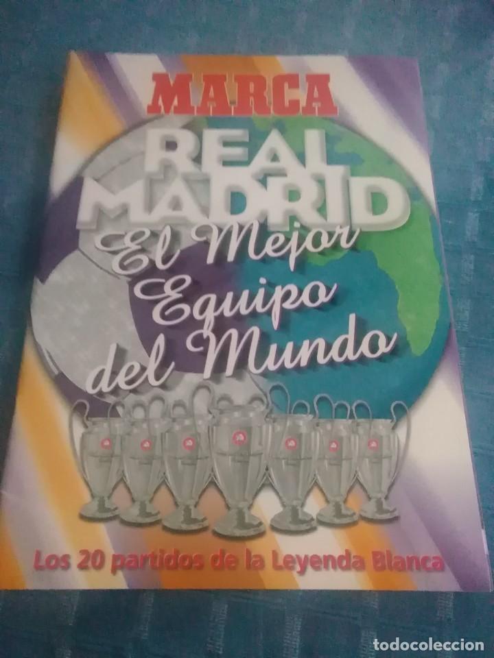 ÁLBUM MARCA REAL MADRID ,EL MEJOR EQUIPO DEL MUNDO, LOS 20 PARTIDOS DE LA LEYENDA BLANCA (Coleccionismo Deportivo - Revistas y Periódicos - Marca)