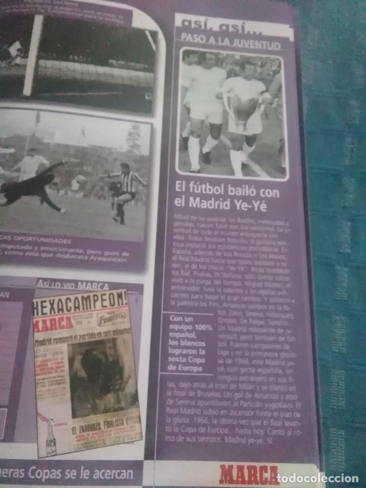 Coleccionismo deportivo: Álbum marca real Madrid ,el mejor equipo del mundo, los 20 partidos de la leyenda blanca - Foto 3 - 275696508