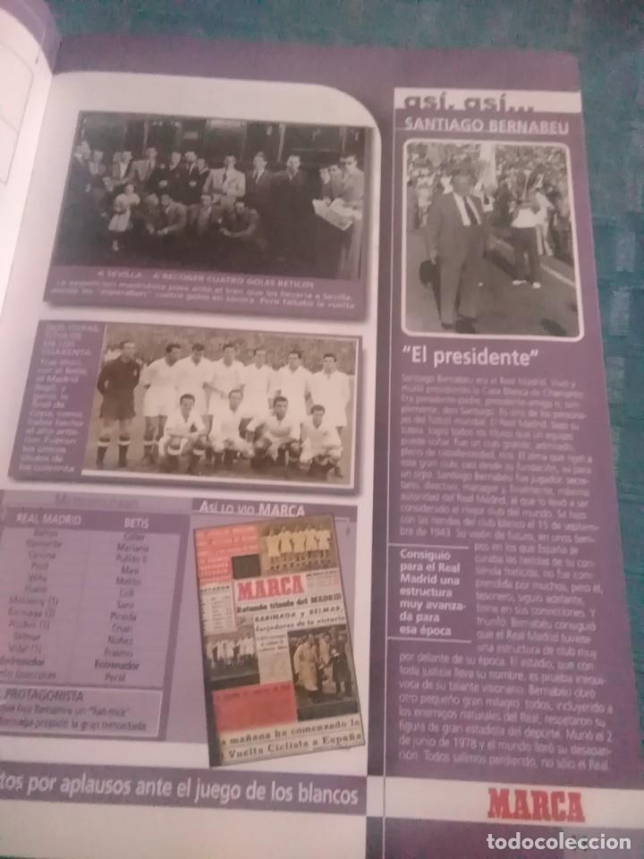Coleccionismo deportivo: Álbum marca real Madrid ,el mejor equipo del mundo, los 20 partidos de la leyenda blanca - Foto 5 - 275696508