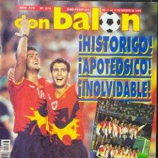 Coleccionismo deportivo: REVISTA DON BALÓN. AÑO XVII. N.º 876. AGOSTO, 1992. ENTREVISTA A JESÚS GIL.. Lote 276707628