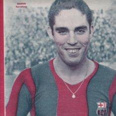 Coleccionismo deportivo: MARTIN JUGADOR DEL BARCELONA EL ATLETICO AVIACIÓN Y EL BARCELONA EMPATAN VALENCIA EMPATO EN SABADELL. Lote 277171808