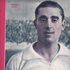 Coleccionismo deportivo: ALCONERO JUGADOR DEL SEVILLA CAMPENATO DE ESPAÑA DE BOLOS ÁNGEL MAZA GANÓ A F MALLAVIA EN SANTANDER. Lote 277175188
