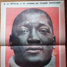 Coleccionismo deportivo: 1957 K.O. MUNDIAL # 237 POSTER JACK JOHNSON TAPA BUNETTA & GONZALEZ SUGAR ROBINSON IBIRAPUERA ADAO. Lote 277535483