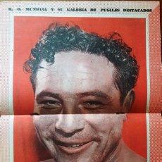 Coleccionismo deportivo: 1957 K.O. MUNDIAL # 238 POSTER MAX BAER TAPA LUIZAO SUGAR ROBINSON EDER JOFRE RALPH TIGER JONES. Lote 277540523