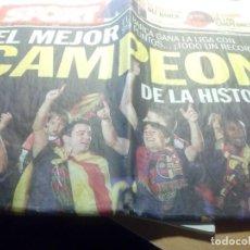 Coleccionismo deportivo: DIARIO SPORT. EL MEJOR CAMPEÓN DE LA HISTORIA. FC BARCELONA LIGA 2009-10. LOS 99 PUNTOS. Lote 277541753