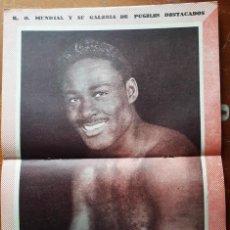 Coleccionismo deportivo: 1957 K.O. MUNDIAL # 242 POSTER EZZARD CHARLES TAPA PEDRO BENELLI EDER JOFRE AHUMADA VS CONTRERAS. Lote 277659613