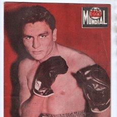 Coleccionismo deportivo: 1957 K.O. MUNDIAL # 243 ANGEL AHUMADA POSTER ROBERTO CASTRO RANKING SUDAMERICANO FEDERICO THOMPSON. Lote 277663298