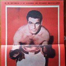 Collezionismo sportivo: 1957 K.O. MUNDIAL # 244 ANGEL CUELLO POSTER JOEY MAXIM HISTORIA DEL BOX ESPAÑOL DESDE LUIS VALLESPIN. Lote 277666258