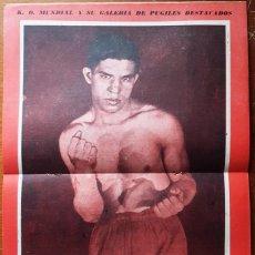 Coleccionismo deportivo: 1957 K.O. MUNDIAL # 246 ADRIAN SERVIN POSTER VICTORIO VENTURI EDER JOFRE WALDEMIRO TORRES A. SELPA. Lote 277667628