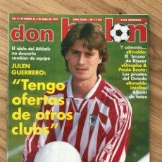 Coleccionismo deportivo: FÚTBOL DON BALÓN 1120 - POSTER SEEDORF - ATHLETIC - DEPORTIVO - OVIEDO - RONALDO - FIORENTINA. Lote 277725483