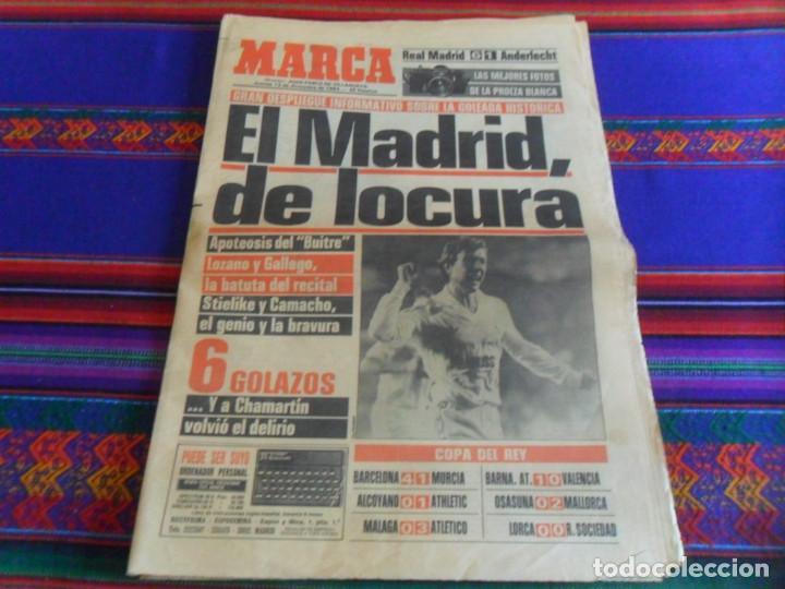 Coleccionismo deportivo: DIARIO AS MARCA COPA UEFA 1985 1986 REAL MADRID BORUSSIA MOENCHENGLADBACH 4 0. REGALO ANDERLECHT 6 1 - Foto 4 - 278232428