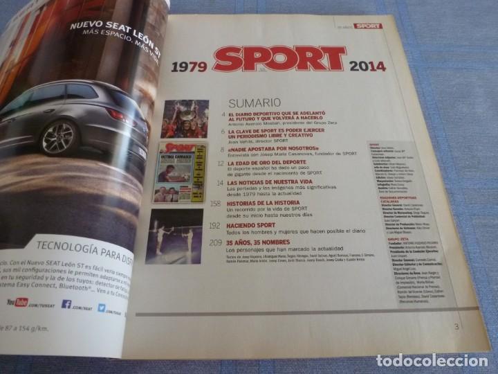 Coleccionismo deportivo: (BTA)REVISTA 35 ANIVERSARIO SPORT 1979-2014 LA HISTORIA CONTINÚA - Foto 2 - 278373673