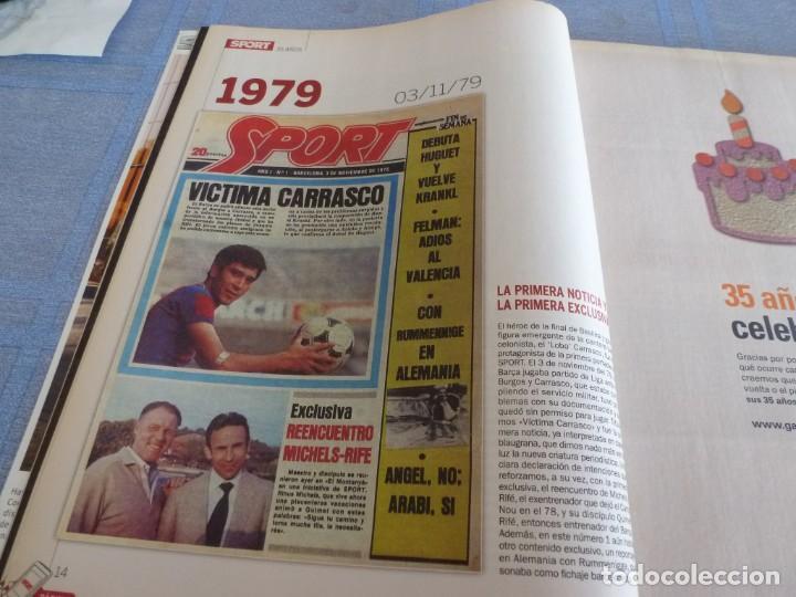 Coleccionismo deportivo: (BTA)REVISTA 35 ANIVERSARIO SPORT 1979-2014 LA HISTORIA CONTINÚA - Foto 4 - 278373673