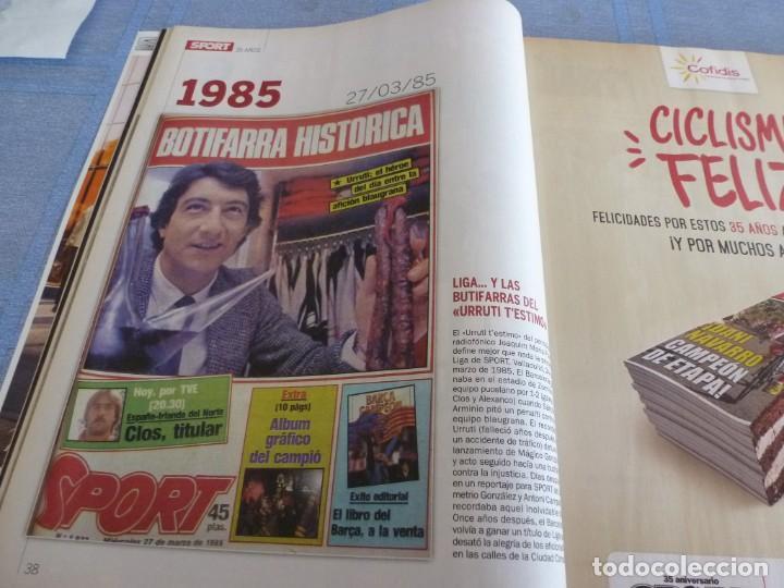 Coleccionismo deportivo: (BTA)REVISTA 35 ANIVERSARIO SPORT 1979-2014 LA HISTORIA CONTINÚA - Foto 6 - 278373673