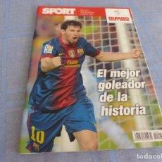 Coleccionismo deportivo: (BTA) ESPECIAL SPORT (DICIEMBRE 2012)MESSI EL MEJOR GOLEADOR DE LA HISTORIA-EN CASTELLANO. Lote 278375378