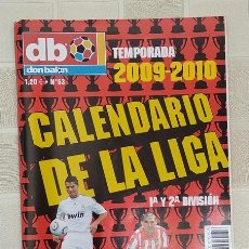 Coleccionismo deportivo: DON BALON CALENDARIO DE LA LIGA N 63 TEMPORADA 2009-2010 FÚTBOL. Lote 278428263