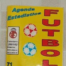 Coleccionismo deportivo: CALENDARIO 2001-2001 AGENDA ESTADISTICA FUTBOL 71 CAMPEONATO NACIONAL DE LIGA. Lote 278428608