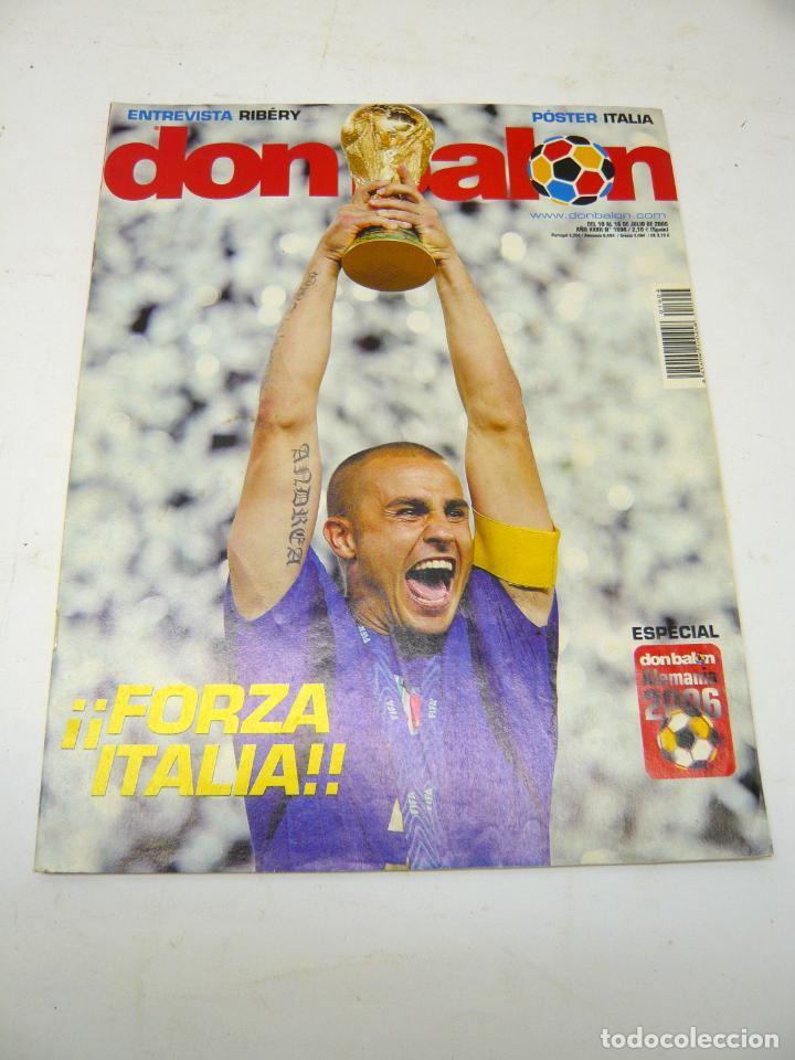 REVISTA DON BALÓN Nº 1604, JULIO 2006: FORZA ITALIA, TETRA CAMPEONA DEL MUNDIAL DE FÚTBOL (Coleccionismo Deportivo - Revistas y Periódicos - Don Balón)