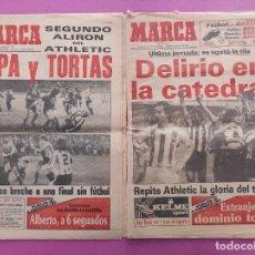 Coleccionismo deportivo: LOTE 2 DIARIO MARCA DOBLETE ATHLETIC CLUB BILBAO CAMPEON LIGA 83/84 - COPA DEL REY 1983/1984. Lote 281808243
