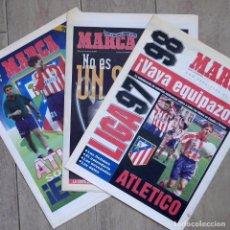Coleccionismo deportivo: 3 PERIÓDICOS, SUPLEMENTOS GRATUITOS DE MARCA, LIGA 97-98, ATLÉTICO DE MADRID. Lote 281819968