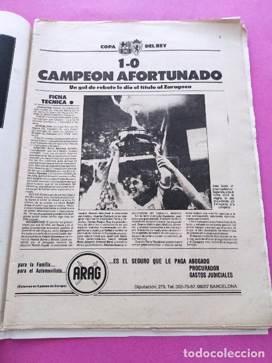 Coleccionismo deportivo: DIARIO EL MUNDO DEPORTIVO 1986 REAL ZARAGOZA CAMPEON COPA DEL REY 85/86 - POSTER FIGNON HUGO SANCHEZ - Foto 3 - 282949608