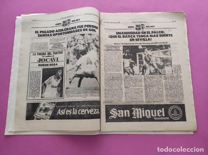 Coleccionismo deportivo: DIARIO EL MUNDO DEPORTIVO 1986 REAL ZARAGOZA CAMPEON COPA DEL REY 85/86 - POSTER FIGNON HUGO SANCHEZ - Foto 5 - 282949608