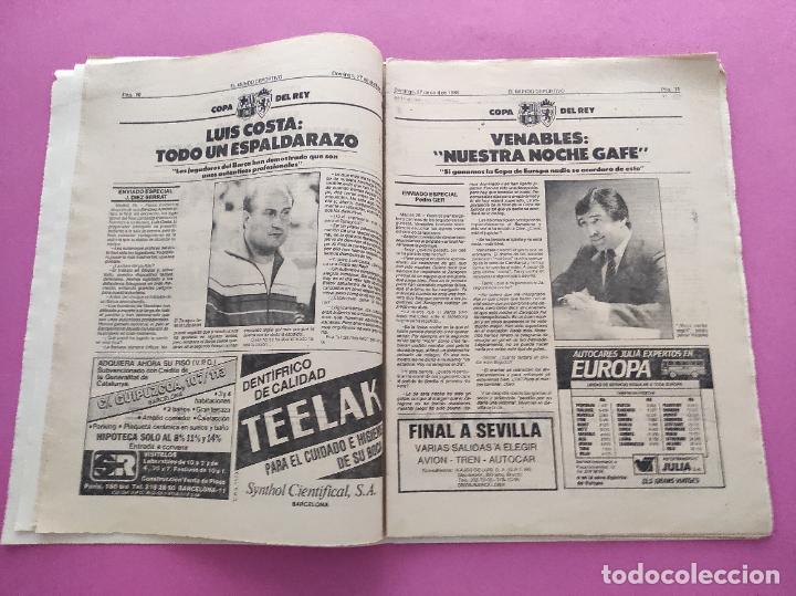 Coleccionismo deportivo: DIARIO EL MUNDO DEPORTIVO 1986 REAL ZARAGOZA CAMPEON COPA DEL REY 85/86 - POSTER FIGNON HUGO SANCHEZ - Foto 6 - 282949608