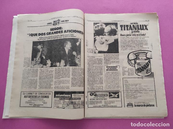 Coleccionismo deportivo: DIARIO EL MUNDO DEPORTIVO 1986 REAL ZARAGOZA CAMPEON COPA DEL REY 85/86 - POSTER FIGNON HUGO SANCHEZ - Foto 7 - 282949608