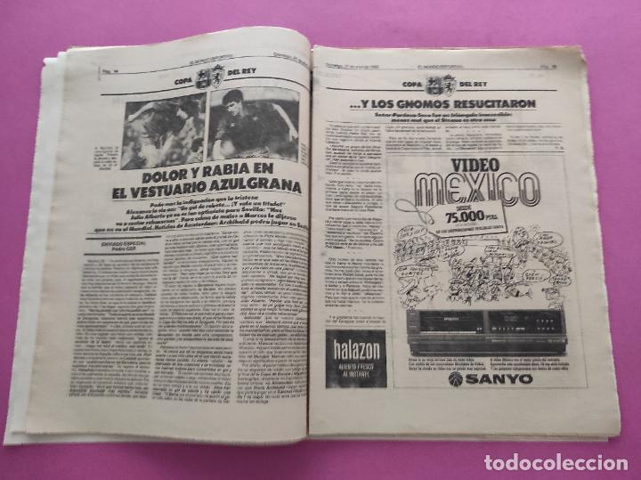 Coleccionismo deportivo: DIARIO EL MUNDO DEPORTIVO 1986 REAL ZARAGOZA CAMPEON COPA DEL REY 85/86 - POSTER FIGNON HUGO SANCHEZ - Foto 8 - 282949608
