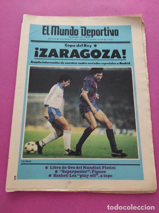 DIARIO EL MUNDO DEPORTIVO 1986 REAL ZARAGOZA CAMPEON COPA DEL REY 85/86 - POSTER FIGNON HUGO SANCHEZ (Coleccionismo Deportivo - Revistas y Periódicos - Mundo Deportivo)
