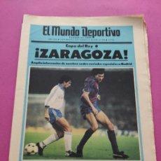 Coleccionismo deportivo: DIARIO EL MUNDO DEPORTIVO 1986 REAL ZARAGOZA CAMPEON COPA DEL REY 85/86 - POSTER FIGNON HUGO SANCHEZ. Lote 282949608