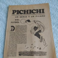 Coleccionismo deportivo: ATHLETIC DE BILBAO BIOGRAFIA PICHICHI MARCA. Lote 283679113