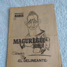Coleccionismo deportivo: ATHLETIC DE BILBAO BIOGRAFIA MAGUREGUI PERIODICO MARCA. Lote 283680263