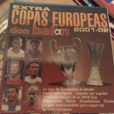 Coleccionismo deportivo: EXTRA DON BALÓN COPAS EUROPEAS 2001 02. Lote 284178483
