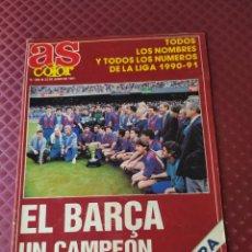 Coleccionismo deportivo: AS COLOR 280 EXTRA LIGA 1990-91 POSTER BARCELONA BUEN ESTADO. Lote 284198913