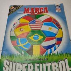 Coleccionismo deportivo: SUPER FUTBOL MARCA GUÍA ALBUM USA 94 INCLUIDO PÓSTER. Lote 284307623
