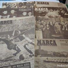 Coleccionismo deportivo: LOTE 6 PERIÓDICOS MARCA AÑOS 40. Lote 284308708