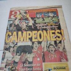 Coleccionismo deportivo: PERIÓDICO AS ESPAÑA CAMPEONA DE EUROPA 30 JUNIO 2008. Lote 284367983