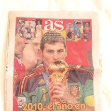 Coleccionismo deportivo: DIARIO AS ENERO 2011 - 2010 EL AÑO QUE CONQUISTADOS EL MUNDO. Lote 285674078