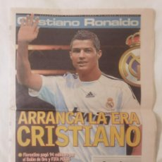 Coleccionismo deportivo: DIARIO AS. ESPECIAL CRISTIANO RONALDO. REAL MADRID . CON PÓSTER. Lote 286166483