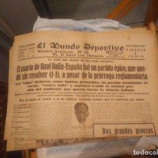 Coleccionismo deportivo: LOTE 14 MUNDO DEPORTIVO CON LA EVOLUCION DEL MUNDIAL DE 1934 Y LOS PARTIDOS DE ESPAÑA. Lote 286224658