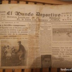 Coleccionismo deportivo: TODAS LAS JORNADAS DE LIGA TEMP. 33/34 MUNDO DEPORTIVO, ATHLETIC CAMPEON Y SEVILLA ASCIENDE. Lote 286225083