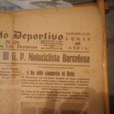 Coleccionismo deportivo: TODOS LOS PERIODICOS MUNDO DEPORTIVO JORNADAS TEMP 34/35 CON EL BETIS CAMPEON AL FINAL. Lote 286225283