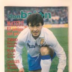 Coleccionismo deportivo: FÚTBOL DON BALÓN 790 - MATEUT - POSTER ESPANYOL - SUPERCOPA MADRID - URBAN - TORINO - SAMP MARADONA. Lote 286225593