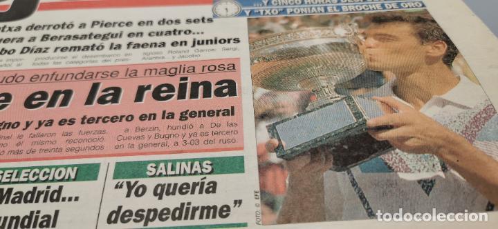 Coleccionismo deportivo: PORTADA Y CONTRAPORTADA MARCA, 6-6-1994.BRUGUERA Y ARANCHA SANCHEZ VICARIO CAMPEONES ROLAND GARROS - Foto 2 - 286649983