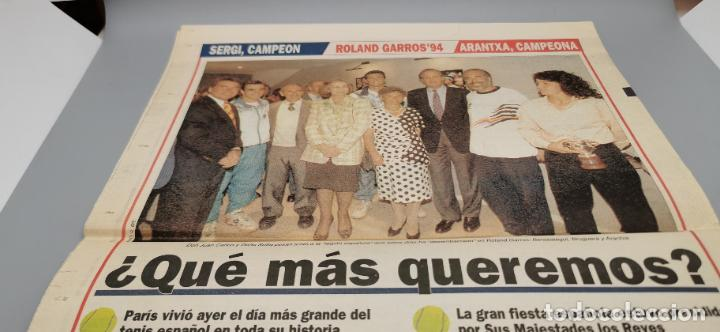 Coleccionismo deportivo: PORTADA Y CONTRAPORTADA MARCA, 6-6-1994.BRUGUERA Y ARANCHA SANCHEZ VICARIO CAMPEONES ROLAND GARROS - Foto 3 - 286649983