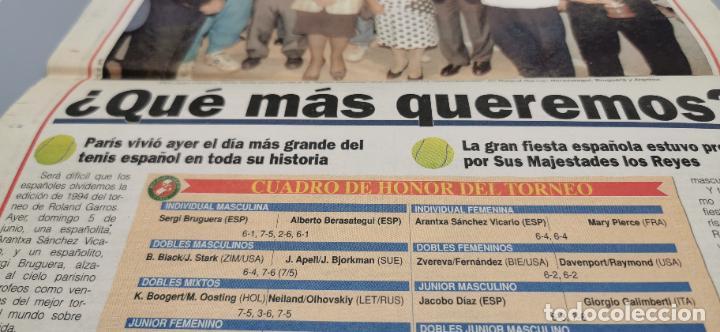 Coleccionismo deportivo: PORTADA Y CONTRAPORTADA MARCA, 6-6-1994.BRUGUERA Y ARANCHA SANCHEZ VICARIO CAMPEONES ROLAND GARROS - Foto 4 - 286649983