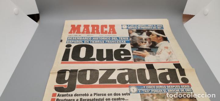 PORTADA Y CONTRAPORTADA MARCA, 6-6-1994.BRUGUERA Y ARANCHA SANCHEZ VICARIO CAMPEONES ROLAND GARROS (Coleccionismo Deportivo - Revistas y Periódicos - Marca)