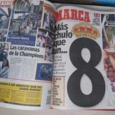 Collezionismo sportivo: DIARIO MARCA MES DE MAYO 2000 - AÑO CAMPEON EUROPA - REAL MADRID - LA OCTAVA. Lote 287265643
