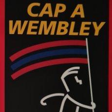 Coleccionismo deportivo: ADESIVO CAP A WEMBLEY (EL MUNDO DEPORTIVO). Lote 287339943